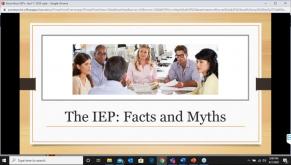 Metropolitan Parent Center Webinar Series, Spring 2020  IEP  Facts and Myths