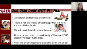 Teletherapy WORKS! A Virtual Parent Workshop.