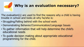 Evaluation and Classification  The Beginning of the Special Education Process